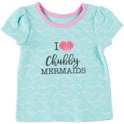 Baby Girls Cropped Shell Manatee T-Shirt