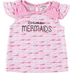Baby Girls Short Sleeve Manatee T-Shirt