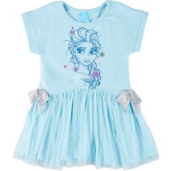 Disney Frozen Toddler Girls Short Sleeve Elsa Tulle Dress