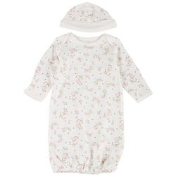 Little Me Baby Girls Vintage Floral Sleep Gown