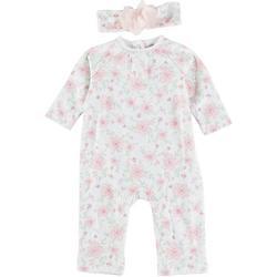 Baby Girls 2-pc. Floral Flourish One Piece Set