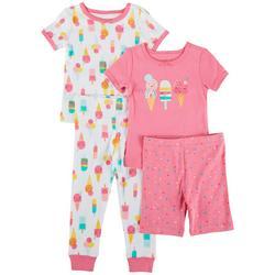 Baby Girls 4-pc. Ice Cream Pajama Set
