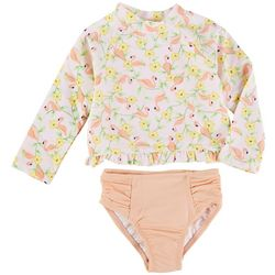 Little Me Baby Girls 2-pc. Flamingo Rashguard Swimsuit