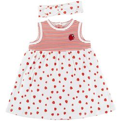 Little Me Baby Girls Strawberry Sleeveless Dress