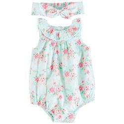 Little Me Baby Girls Garden Blossom Romper