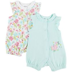 Little Me Baby Girls 2-pk. Floral Romper Set