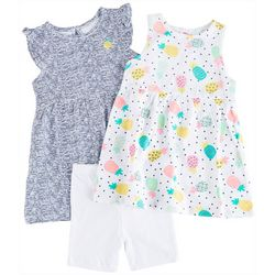 Little Me Baby Girls 3-pc. Pineapple Party Dress Set