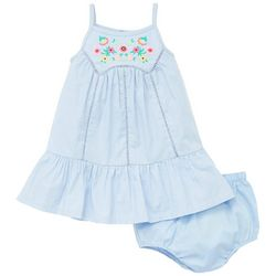 Little Me Baby Girls Floral Embroidered Sleeveless Dress