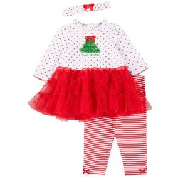 Little Me Baby Girls My 1st Christmas Leggings Set
