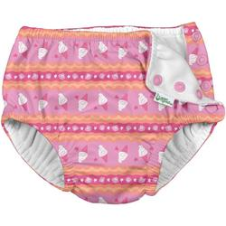 Baby Girls Ice Cream Snap Swim Diaper