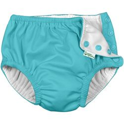 Green Sprouts Baby Girls Solid Snap Swim Diaper