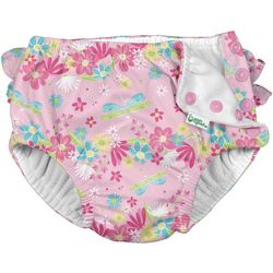 Green Sprouts Baby Girls Dragonfly Ruffle Snap Swim