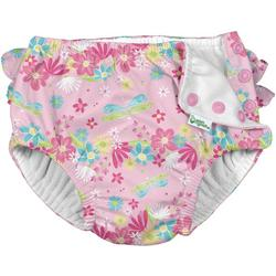 Baby Girls Dragonfly Ruffle Snap Swim Diaper