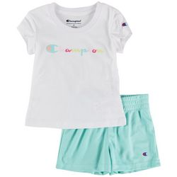 Champion Toddler Girls 2-pc. Logo Script Short Set
