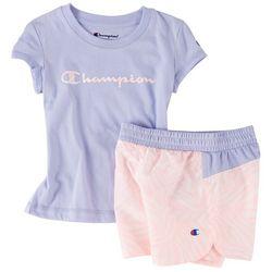 Champion Toddler Girls 2-pc. Logo Zebra Short Set