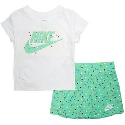 Toddler Girls 2-pc. Dotted Scooter Skirt Set