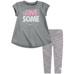 Nike Toddler Girls Awesome Tee & Leggings Set