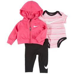 Baby Girls 3-pc. Just Do It Leggings Set