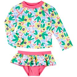 Toddler Girls 2-pc. Floral Rashguard Swimsuit