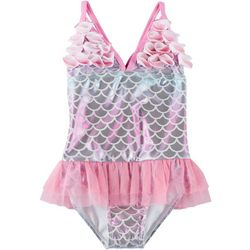 Toddler Girls Mermaid Ruffle Tutu Swimsuit