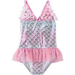 Baby Girls Mermaid Ruffle Tutu Swimsuit