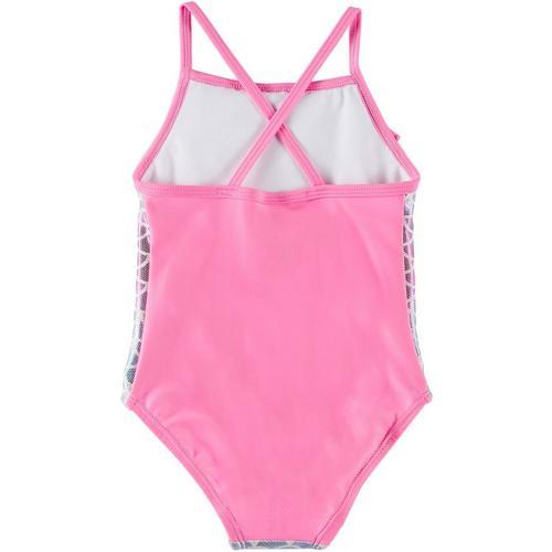 Disney Frozen Baby Toddler Girls One Piece Swimsuit UPF 50 Pink Tutu Sisters 2T