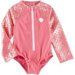 Toddler Girls Mermaid Rashguard Swimsuit
