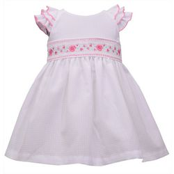 Toddler Girls Floral Smocked Dress