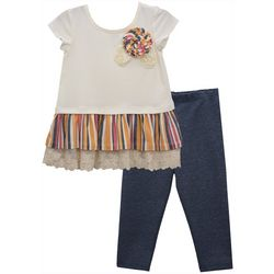 Bonnie Jean Baby Girls Stripe Trim Tunic & Leggings Set