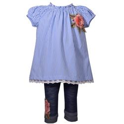 Baby Girls Stripe Leggings Set