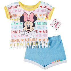 Toddler Girls Minnie Mouse Fringe Tee & Shorts Set