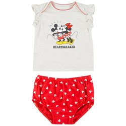 Baby Girls 2-pc. Minnie Mouse Heartbreaker set