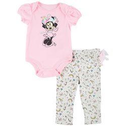 Disney Baby Girls Minnie Mouse Tulle Leggings Set