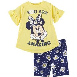 Minnie Mouse Baby Girls 2-pc. You Are Amazing Short Set