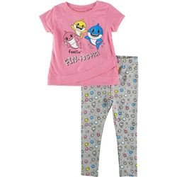 Baby Shark Baby Girls 2-pc. Feelin' Fin-Tastic Pants Set