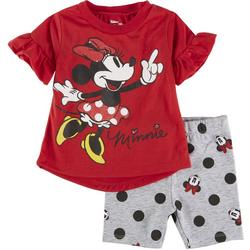 Baby Girls 2-pc. Minnie Short Set