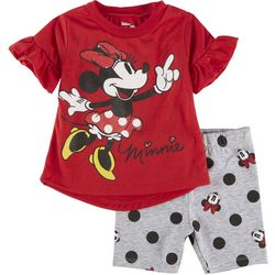 Minnie Mouse Toddler Girls 2-pc. Minnie Short Set