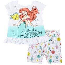 Disney Little Mermaid Toddler Girls 2-pc. Ariel Shorts Set