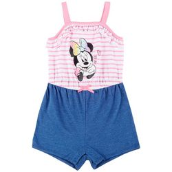 Toddler Girls Stripe Minnie Mouse Romper