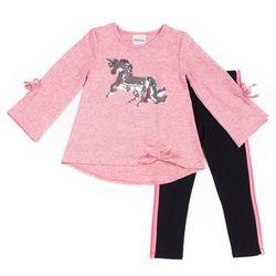 Little Lass Baby Girls 2-pc. Unicorn Leggings Set