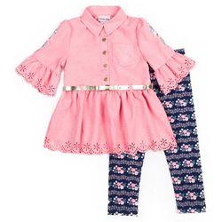 Little Lass Toddler Girls 2-pc. Floral Leggings Set