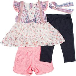 Toddler Girls 4-pc. Floral Print Chiffon Set