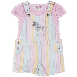 Little Lass Baby Girls Sequin Unicorn Shortalls Set