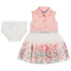 Little Lass Baby Girls Floral Tulle Dress