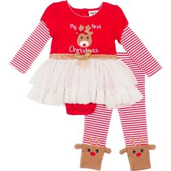 Little Girls 2-pc. First Christmas Set