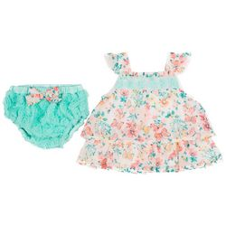 Little Lass Baby Girls 2-pc. Butterfly Dress