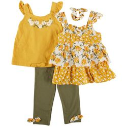 Little Lass Toddler Girls 4-pc. Floral Pant Set