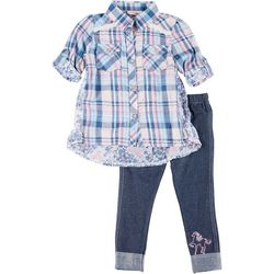 Little Lass Baby Girls 2-pc. Plaid Tunic & Leggings Set