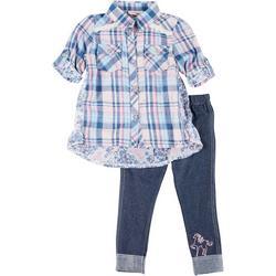 Baby Girls 2-pc. Plaid Tunic & Leggings Set