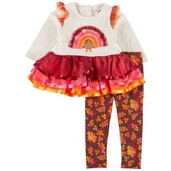 Little Lass Baby Girls Turkey Leggings Set